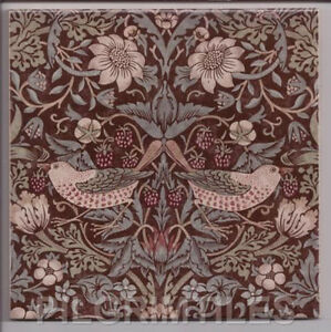 Image Is Loading Arts Amp Crafts William Morris Strawberry Thief Tiles