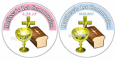 20 FIRST 1st HOLY COMMUNION PARTY FAVORS LABELS STICKERS FOR YOUR FAVORS