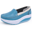 Indexbild 4 - Damen Rund Toe Wedge Low Heel Schuhe Platform Krankenschwester Loafer gr.34-41