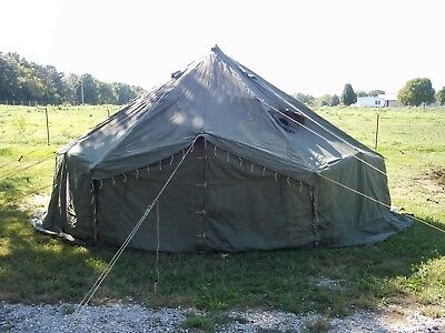 Military Surplus 10 Man Arctic Tent 17x17 Ft Camping