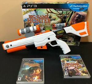 Cabela-039-s-Big-Game-Hunter-2012-Top-Shot-Elite-Gun-amp-Game-PS3-Bundle-Used-Open-Box