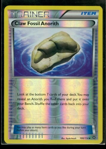 Pokemon CLAW FOSSIL ANORITH 100//114 XY Steam Siege MINT Rev Holo
