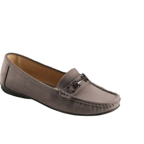 Conway Damen Schuhe Pumps Mokassin Leder Innensohle grey grau 37