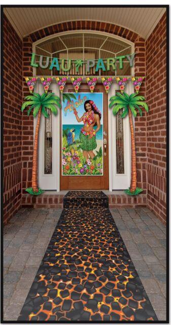 Luau HOT COAL Firewalking FLOOR RUNNER Party Decoration PHOTO PROP Tropical Tiki
