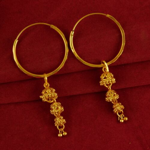 Indian Traditional Hoop Goldplated Earring Bollywood Designer Fashion Jewelry