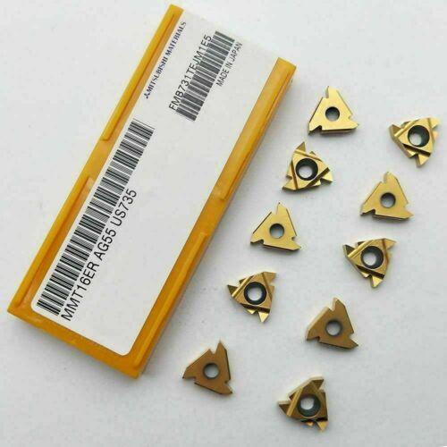 """10pcs New MMT16ER AG55 US735 Carbide Insert Blade Lathe Threading 16ER 3//8/"""" AG55"""
