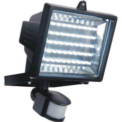 45 LED PIR Floodlight Security Light  IP54 Energy Saving 3W Long Life Black Case