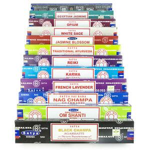 Satya-Sai-Baba-Nag-Champa-Om-Shanti-Variety-Set-L-12-x-15-gram-Boxes-of-Incense