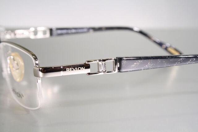 Revlon RV 1044 Silver & Glossy Black Half Frame Semi Rimless ...