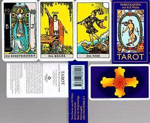 A-E-WAITE-Tarot-Karten-Rider-Waite-Tarot-78-Tarotkarten-Pocketausgabe
