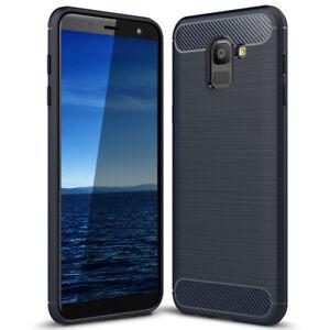 Gummi-Hoesje-voor-Samsung-Galaxy-J6-2018-Handige-Hoes-Bumper-Soft-Mat-Zacht-Dun