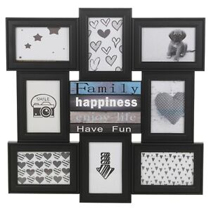 Black-8-Slot-Modern-Decorative-Photo-Multi-Frame-Family-Wedding-Memory-Collage