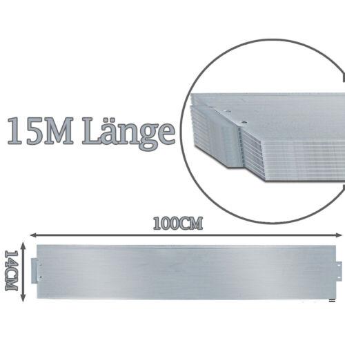 Rasenkante Wurzelsperre 14cm Hoch Metall Beeteinfassung 5-50m Verzinkt
