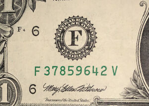 1995-1-ONE-DOLLAR-NOTE-BILL-FANCY-SERIAL-NUMBER-MIXED-SCATTERED-LADDER