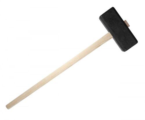 Kunststoffhammer 4kg mit Holzstiel 110cm zum Einschlagen von Zaunpfählen