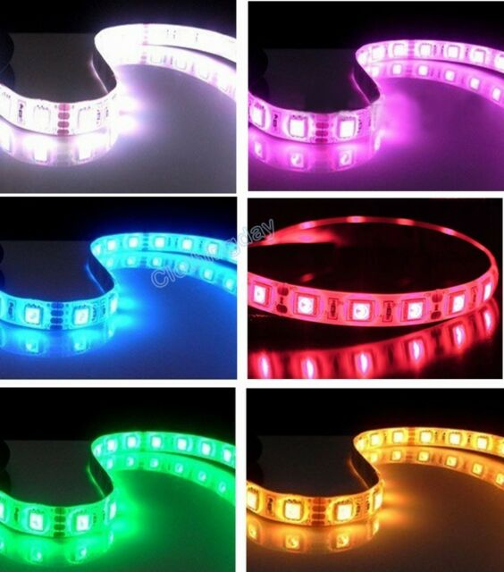 "LED Light Neon Adhensive Strip 11"" PC Computer Case Flexible 12V 4 Pin 7 Color"