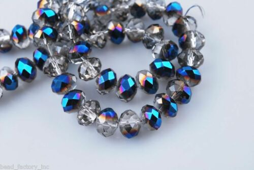 Wholesale 100Pcs 4mm Faceted Glass Loose Beads Spacer Rondelle Findings