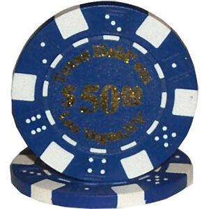 Fiches Texas Hold'Em valore 50 blister 25 pezzi