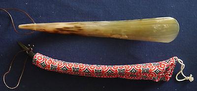 Schuhlöffel Schuhanzieher aus feinstem Horn, handgearbeitet