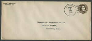 Whitesbog-NJ-Postmarked-1938-JOSEPH-J-WHITE-INC-Envelope-Blueberry-Cranberry