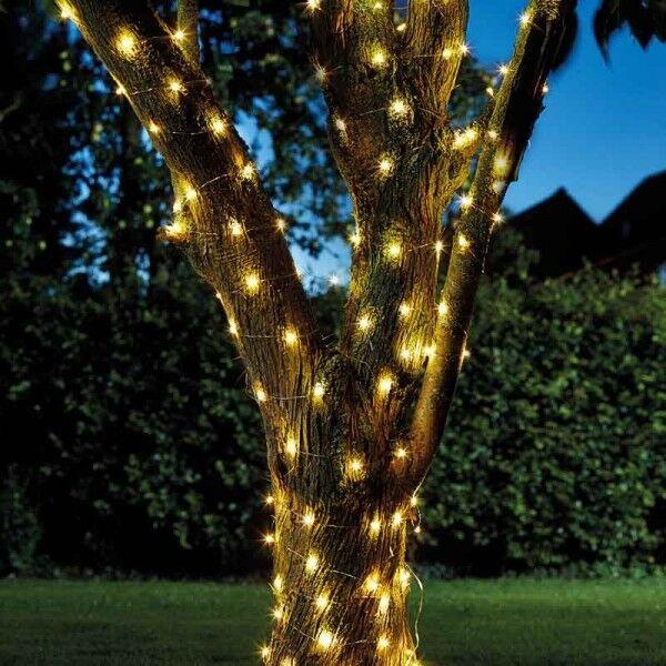 Bright Garden Solar Firefly 100 LED String Of Lights Outdoor Living  Lighting 106 | EBay