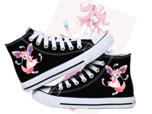 canvas shoes! Anime Pokemon Meng pet Sylveon Cosplay High help Casual canvas