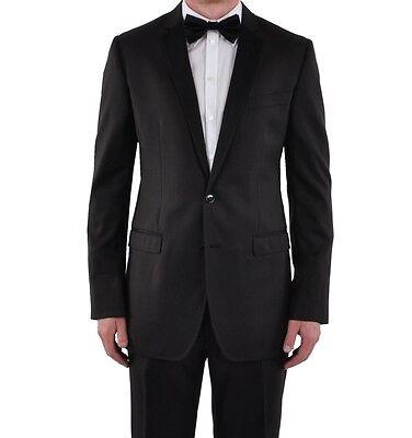 100% Vero Dolce & Gabbana Martini Vestito Nero Marrone Tuxedo Suit Brown Black 03481 Prezzo Di Vendita