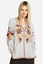 JOHNNY-WAS-Embroidered-ARTEMIS-Floral-PEASANT-BLOUSE-Workshop-Stripe-XS-245 thumbnail 4