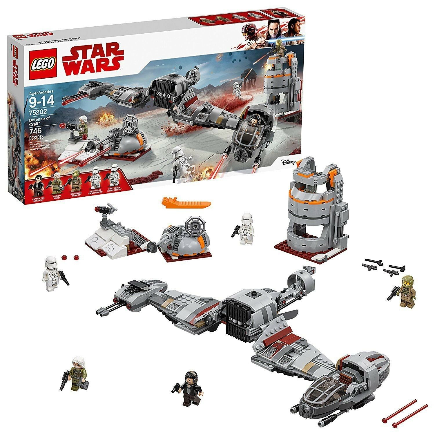 LEGO 75202 Defense of Crait, NEW, Factory Sealed Box