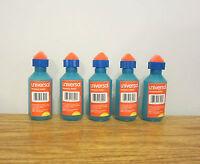 5 Universal Envelope Moistener Letter Sealer Bottles With Sponge Tip Licker