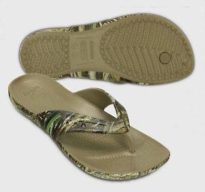 Womens crocs Women's Kadee Realtree Max 5 Flip Flop Us Sale Size 36