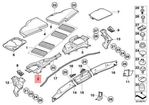 Genuine BMW E82E E90 E90N Cabin Air Filter Housing Lower Left OEM 64316958817