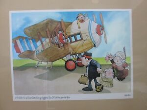 Vintage-Poster-Tribute-Wilber-Armstrong-Higgins-1st-airline-passenger-Inv-G656