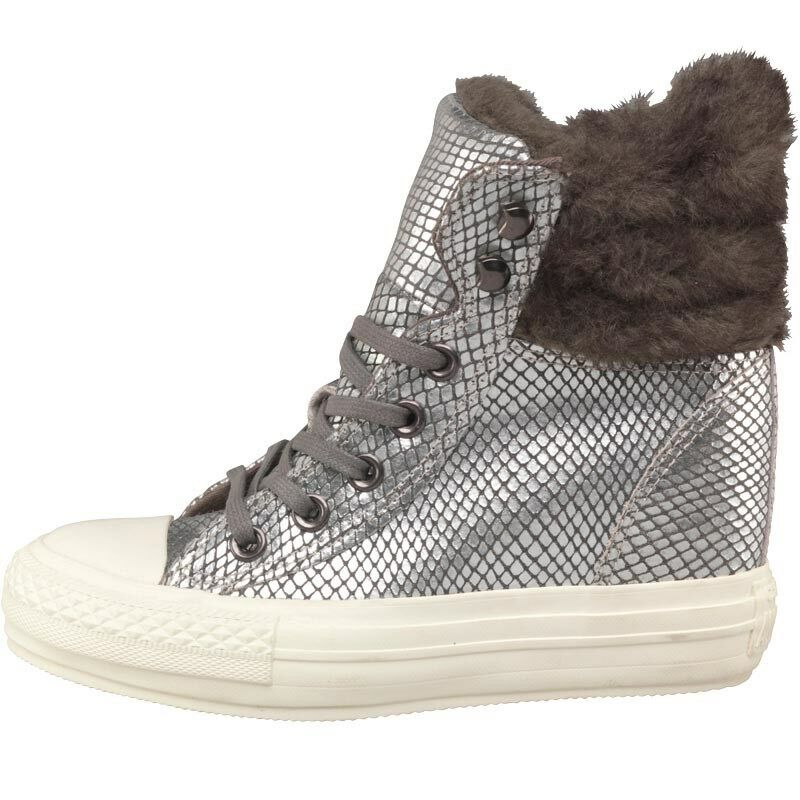Converse CT All Star Hi Platform Faux Fur Collar Trainers, UK 4 EU 36.5, BNIB