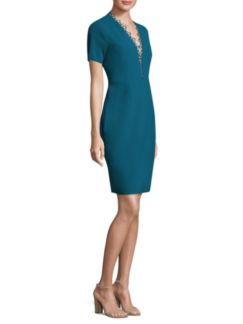 82754f229acf Elie Tahari Saylah Women's Dress Size 4 S Small Nautilus Crepe Sheath