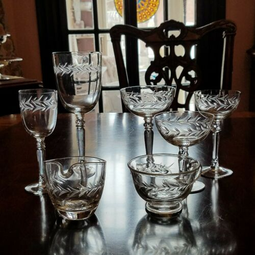 Fostoria HOLLY CLEAR Wine Liquor Cocktail Water Champagne Coupe your choice