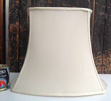 Large traditional lamp shade ivory silk lined needs a shade harp
