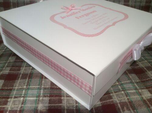 Large Personalised Baby Keepsake Memory Box Christening Gift Present Boy Girl