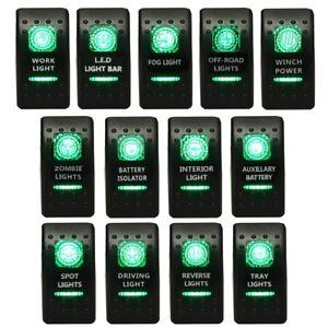 Bright Light Powersports Universal Laser Rocker Switch LED LIGHT BAR for Car Truck Boat ATV UTV 12V Green