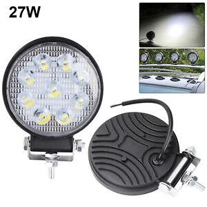 2x-27W-Car-12V-LED-Work-Spot-Lights-Spotlight-Lamp-4x4-Van-ATV-Offroad-SUV-Truck