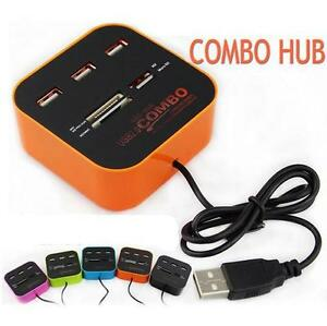 Technotech-All-In-One-Combo-Multi-card-Memory-Card-Reader-amp-3-Port-USB-HUB-2-0