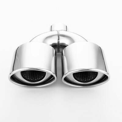 """Universal Oval Exhaust Muffler Center 2.25/"""" inlet to 2.25/"""" Dual outlet"""