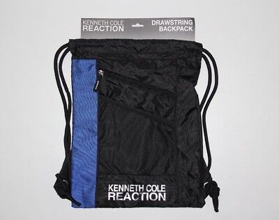 NEW KENNETH COLE REACTION Dark Gray Cinch Drawstring Bag Backpack COOL