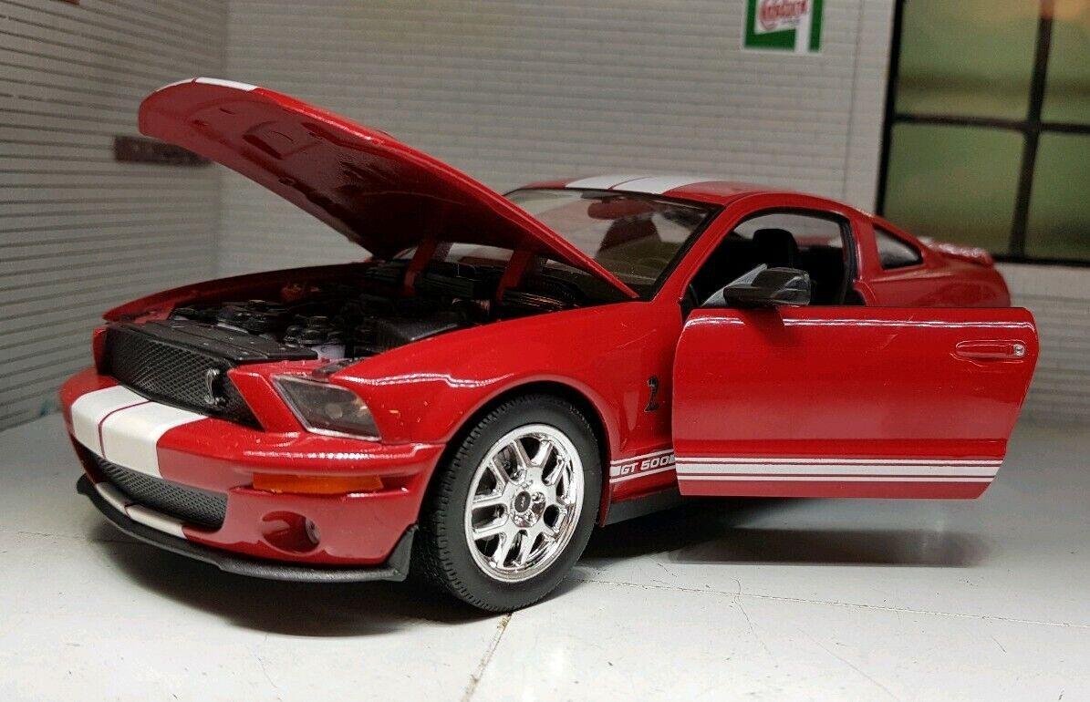 röd Ford Mustang 2007 Gt Coup pop rouppe, 65533; Shelby Cobra GT500 Welly Nex 1 24 Scala modellllerlerlo