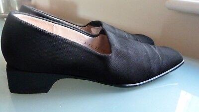 Paul Costelloe damas zapatos tacón bajo Vintage De Tela 5.5 38.5 Smart Casual Trabajo