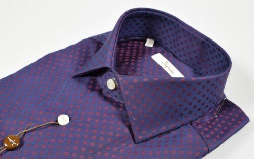 A Fit Ingram Collezione Fantasia Camicia Pois Moder Inverno Autunno Nuova Cotone 7BxHX