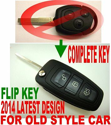 2014 DESIGN FLIP REMOTE FOB FOR 04-08 FORD FOCUS ALARM CONTROL CHIP KEY 2TK-D2