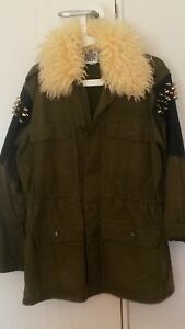 New-The-Ragged-Priest-Jacket-Khaky-with-Studs-Military-Colour-Size-M-L
