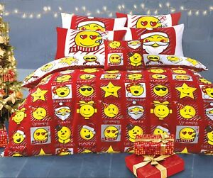 Image Is Loading New Smiley Face Christmas Emoji Duvet Quilt Cover
