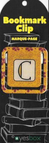 rechteckig 50 x 50 mm NEU !!! Metall Buchstaben Lesezeichen